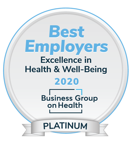 Best Employers Excellence in Health and Well-Being 2020 Business Group on Health Platinum