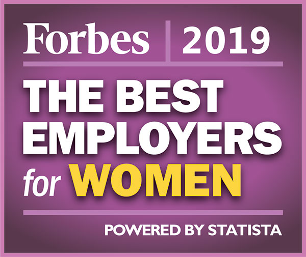Forbes Best Employer for Women 2019