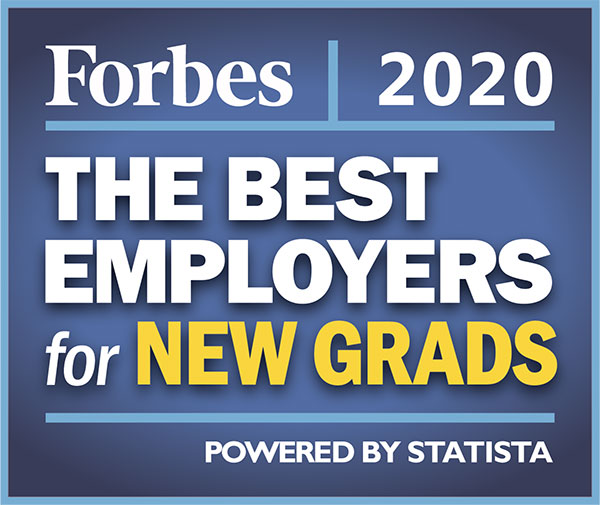 Forbes Best Employer for New Grads 2020